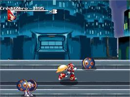 In game image of MegaMan - Xtreme Legend on the OpenBOR.