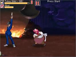 In game image of Melty Blood Stimulate on the OpenBOR.