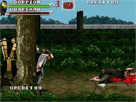 In game image of Mortal Kombat Outworld Assassins on the OpenBOR.
