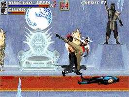 In game image of Mortal Kombat Unlimited on the OpenBOR.