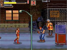 In game image of Rage of the Streets on the OpenBOR.