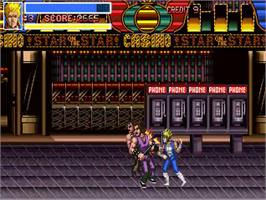 In game image of Return of the Double Dragon on the OpenBOR.