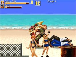 In game image of Rhythm of Destruction 2 - Street Fighter Edition on the OpenBOR.