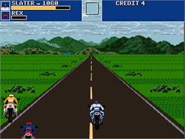 In game image of Road Rash Revolution on the OpenBOR.