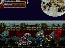 In game image of Splatterhouse 2 - Journey Through Hell on the OpenBOR.