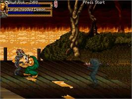 In game image of Splatterhouse 3 - Back to Light on the OpenBOR.