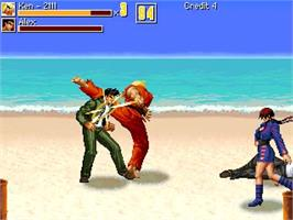 In game image of Street Fighter - Beats of Rage Remix II on the OpenBOR.