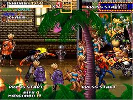 In game image of Streets Of Rage XXX on the OpenBOR.