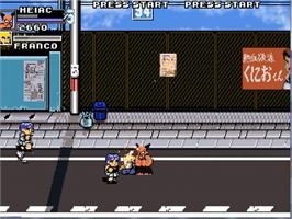 In game image of Valdivia City Ransom on the OpenBOR.