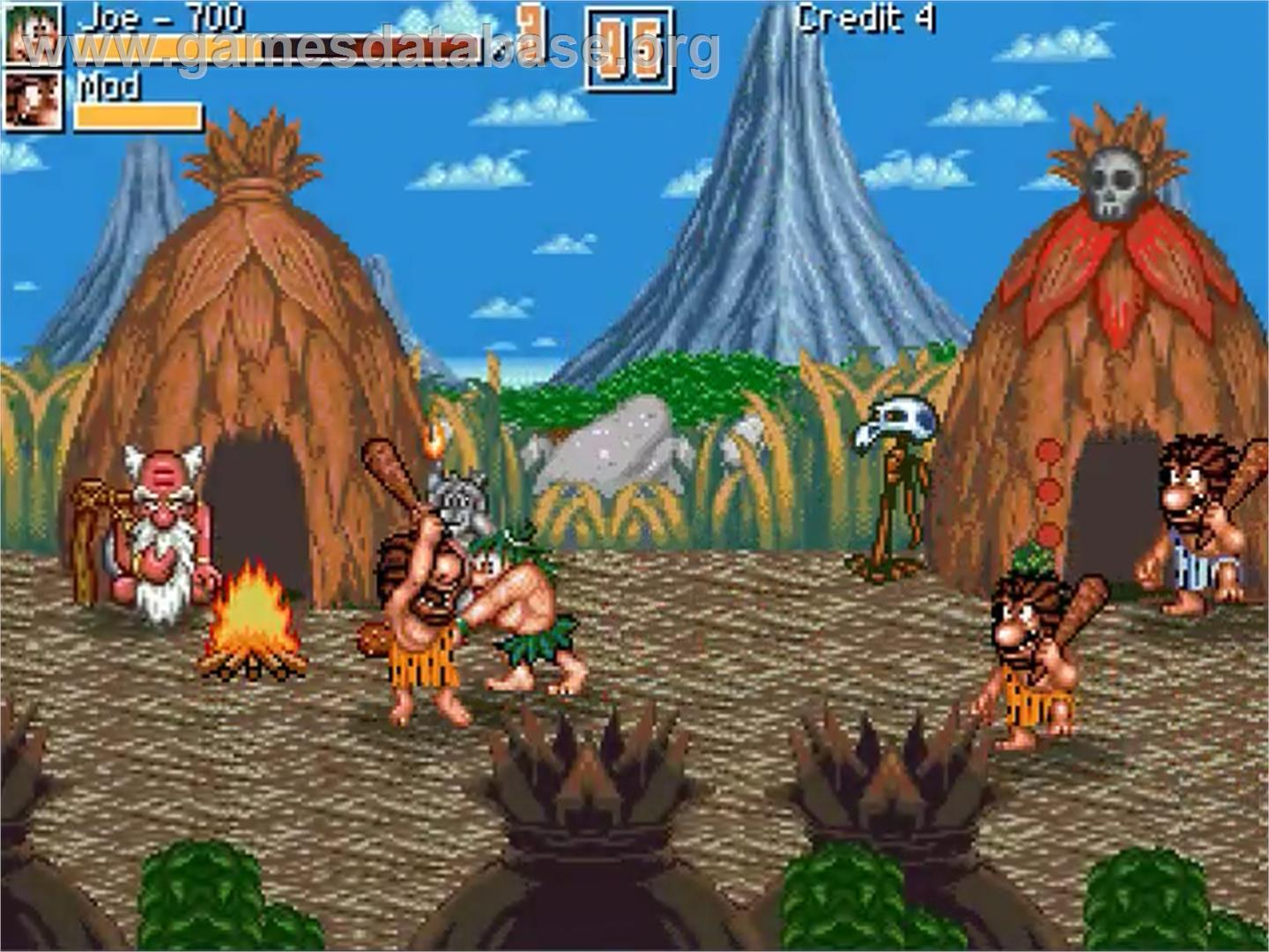 Old School Game Caveman Ninja