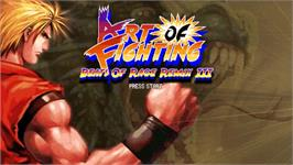 Title screen of Art of Fighting - Beats of Rage Remix III on the OpenBOR.