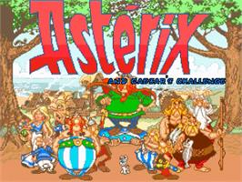 Title screen of Asterix and Caesars Challenge on the OpenBOR.