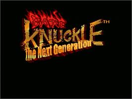 Title screen of Bare Knuckle - Next Generation on the OpenBOR.