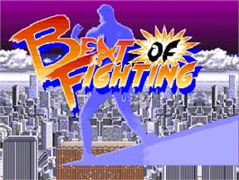 Title screen of Beats of Fighting on the OpenBOR.