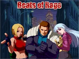 Title screen of Beats of Rage on the OpenBOR.