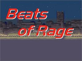 Title screen of Beats of Rage Remix - Rhythm of Destruction on the OpenBOR.