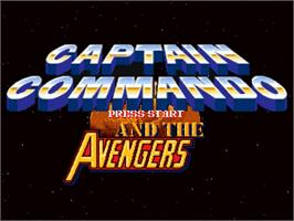 Title screen of Captain Commando and the Avengers on the OpenBOR.