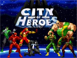Title screen of City Of Heroes on the OpenBOR.