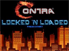 Title screen of Contra - Locked 'N Loaded on the OpenBOR.