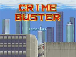 Title screen of Crime Buster on the OpenBOR.