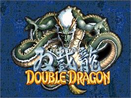 Title screen of Double Dragon Advance on the OpenBOR.