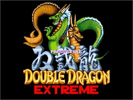 Title screen of Double Dragon Extreme on the OpenBOR.