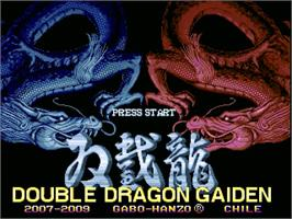 Title screen of Double Dragon Gaiden on the OpenBOR.
