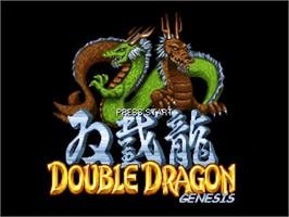 Title screen of Double Dragon Genesis Final Cut on the OpenBOR.