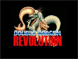 Title screen of Double Dragon Revolution on the OpenBOR.