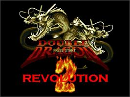Title screen of Double Dragon Revolution 2 on the OpenBOR.