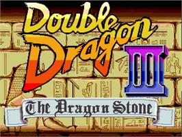 Title screen of Double Dragon Revolution 3 on the OpenBOR.