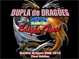 Title screen of Double Dragon SNK Final Edition on the OpenBOR.