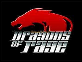 Title screen of Dragons Of Rage on the OpenBOR.