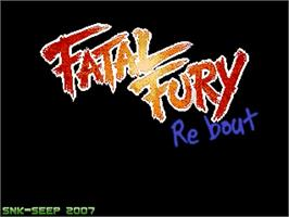 Title screen of Fatal Fury ReBout on the OpenBOR.
