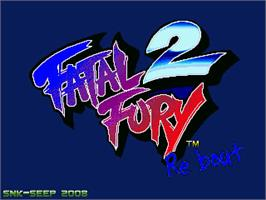Title screen of Fatal Fury ReBout 2 on the OpenBOR.