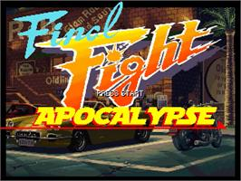 Title screen of Final Fight Apocalypse - 1st Edition on the OpenBOR.