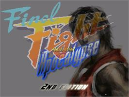 Title screen of Final Fight Apocalypse - 2nd Edition on the OpenBOR.