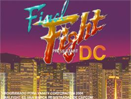 Title screen of Final Fight DC Alteration on the OpenBOR.