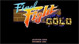Title screen of Final Fight Gold on the OpenBOR.