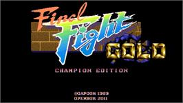 Title screen of Final Fight Gold - Champion Edition on the OpenBOR.