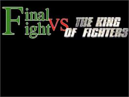 Title screen of Final Fight vs The King Of Fighters - Episode 1 on the OpenBOR.