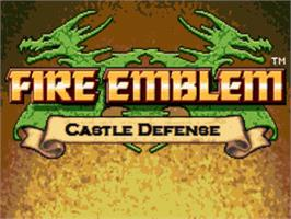 Title screen of Fire Emblem - Castle Defense on the OpenBOR.