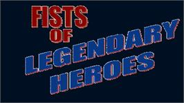 Title screen of Fists of Legendary Heroes on the OpenBOR.