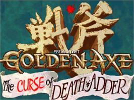 Title screen of Golden Axe Curse of Death Adder 3.0 on the OpenBOR.