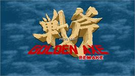 Title screen of Golden Axe Remake on the OpenBOR.