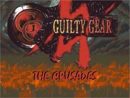 Title screen of Guilty Gear - The Crusades on the OpenBOR.