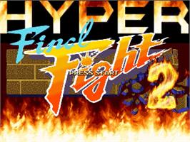 Title screen of Hyper Final Fight 2 on the OpenBOR.