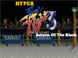Title screen of Hyper Final Fight 3 - Return of the Black on the OpenBOR.