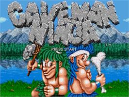 Title screen of Joe and Mac - Caveman Ninja on the OpenBOR.