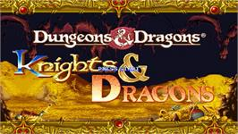 Title screen of Knights & Dragons - Final Cut on the OpenBOR.